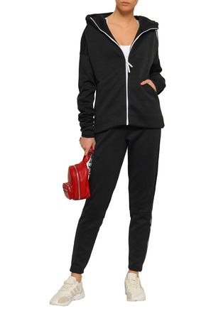 Adidas Originals Tops ADIDAS WOMAN PRINTED SCUBA HOODIE BLACK