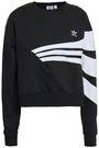 ADIDAS ORIGINALS Two-tone cotton-blend fleece sweatshirt