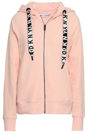DKNY Coated cotton-blend hooded jacket
