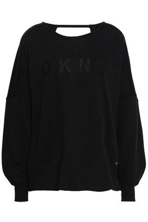 DKNY Open-back cotton-blend sweatshirt