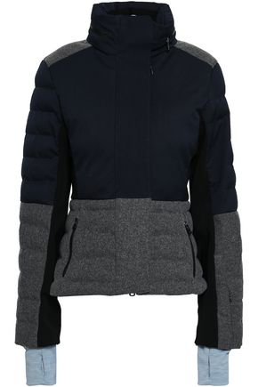 ERIN SNOW Quilted twill and merino wool-blend felt down coat