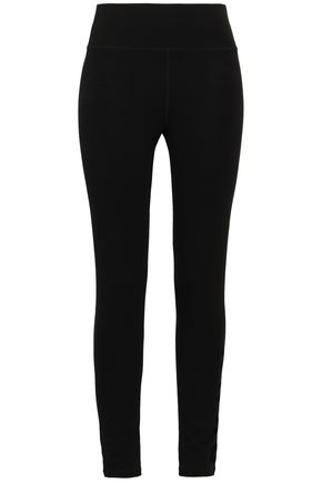 DKNY Flocked stretch-cotton leggings