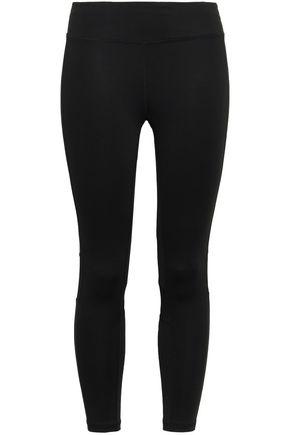 DKNY Mesh-trimmed stretch leggings