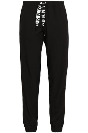 DKNY Mesh-trimmed shell track pants
