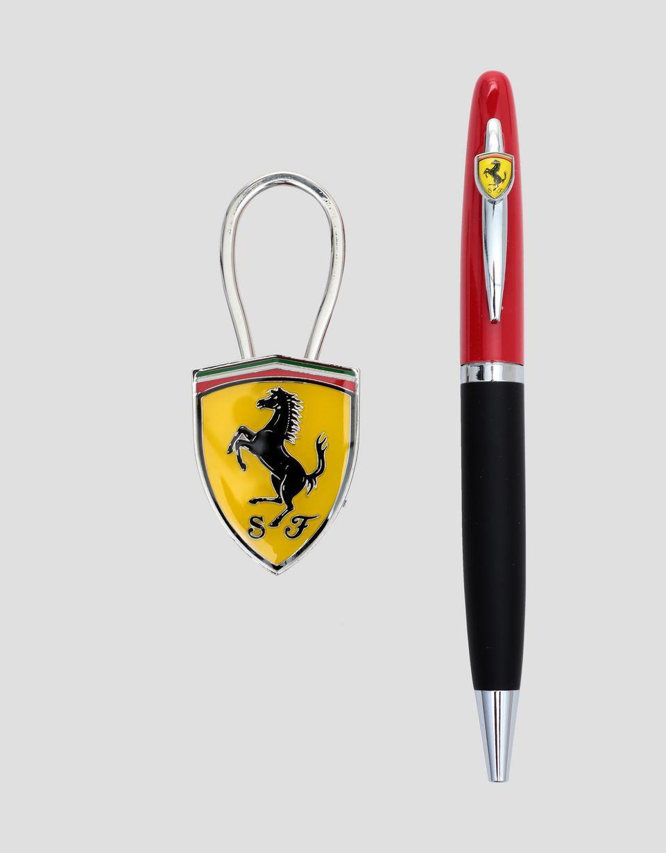 Scuderia Ferrari Online Store - Set Maranello penna e portachiavi - Cancelleria Ufficio