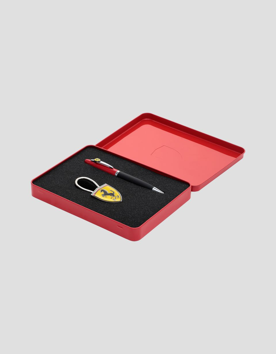 Scuderia Ferrari Online Store - Maranello pen and keychain set - Office Stationery