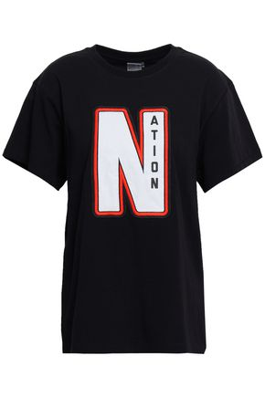 P.E NATION Appliquéd cotton-jersey T-shirt