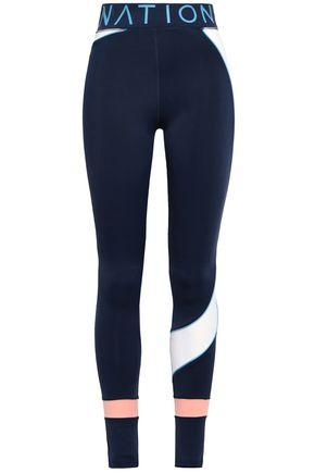 P.E NATION Color-block stretch leggings