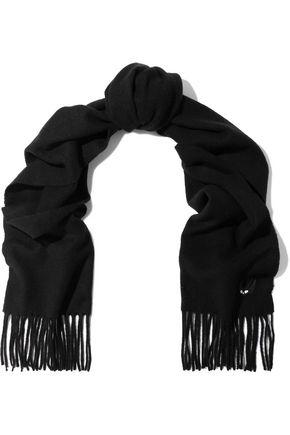 McQ Alexander McQueen Fringed wool-felt scarf