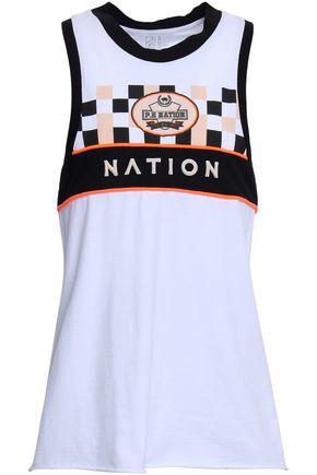 P.E NATION Printed cotton-jersey tank