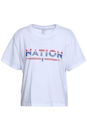 P.E NATION Printed slub cotton-jersey T-shirt