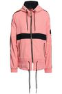 P.E NATION Ribbed knit-trimmed printed shell hooded jacket