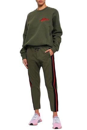 P.E NATION Striped jersey track pants