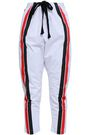 P.E NATION Striped cotton-poplin track pants