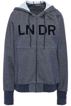 LNDR Flocked mélange cotton-blend sweatshirt
