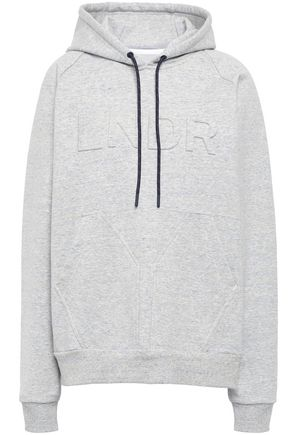 LNDR Embossed marled French terry hoodie