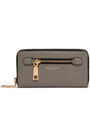 MARC JACOBS Gotham City pebbled-leather continental wallet