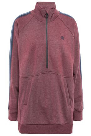 LNDR Striped French cotton-blend terry sweatshirt