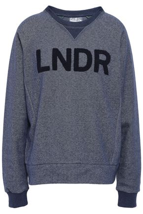 LNDR フロック加工 メランジ コットン混 スウェットシャツ