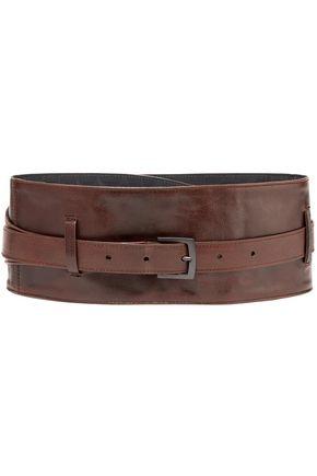 BRUNELLO CUCINELLI Textured-leather waist belt