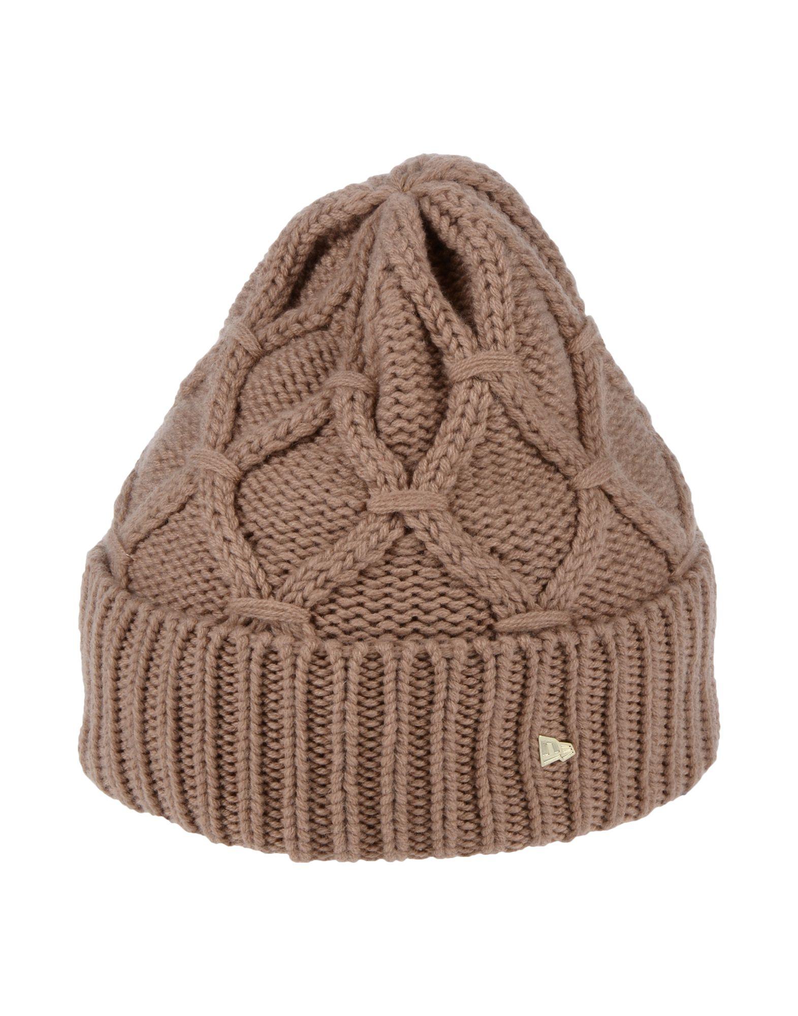 《期間限定 セール開催中》NEW ERA レディース 帽子 サンド one size ウール 90% / カシミヤ 10%