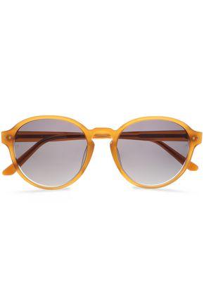 LINDA FARROW Round-frame acetate sunglasses