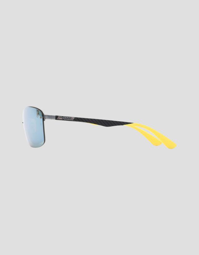 Scuderia Ferrari Online Store - Black Ray-Ban x Scuderia Ferrari glasses with polarized lenses 0RB3617M - Sunglasses