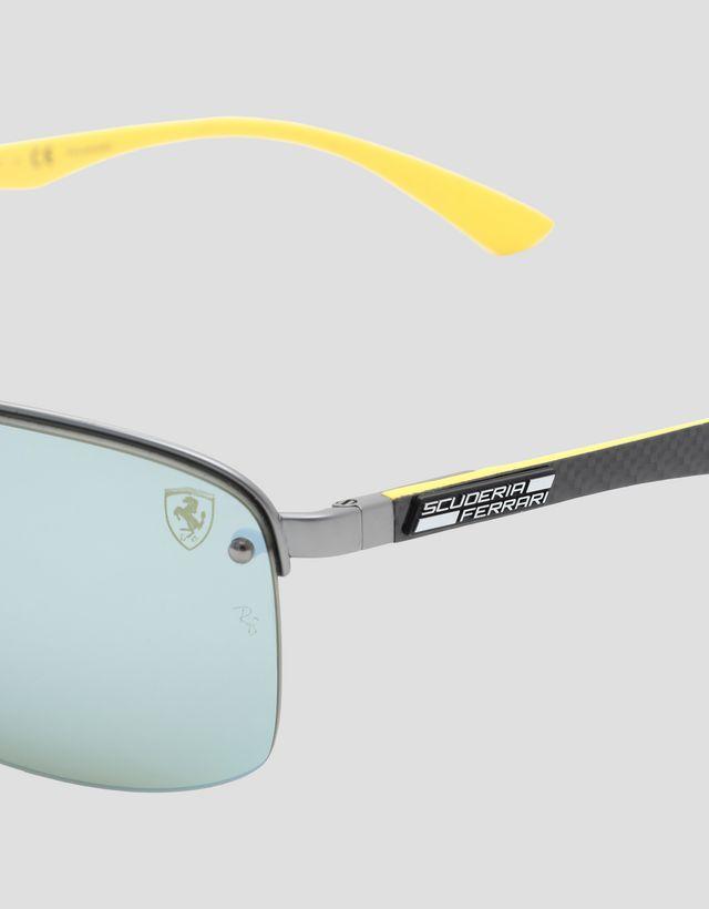 Scuderia Ferrari Online Store - Ray-Ban for Scuderia Ferrari nero con lenti polarizzate 0RB3617M - Occhiali da Sole