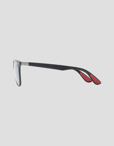 Scuderia Ferrari Online Store - Ray-Ban for Scuderia Ferrari matte grey with polarised lenses 0RB4297M - Sunglasses