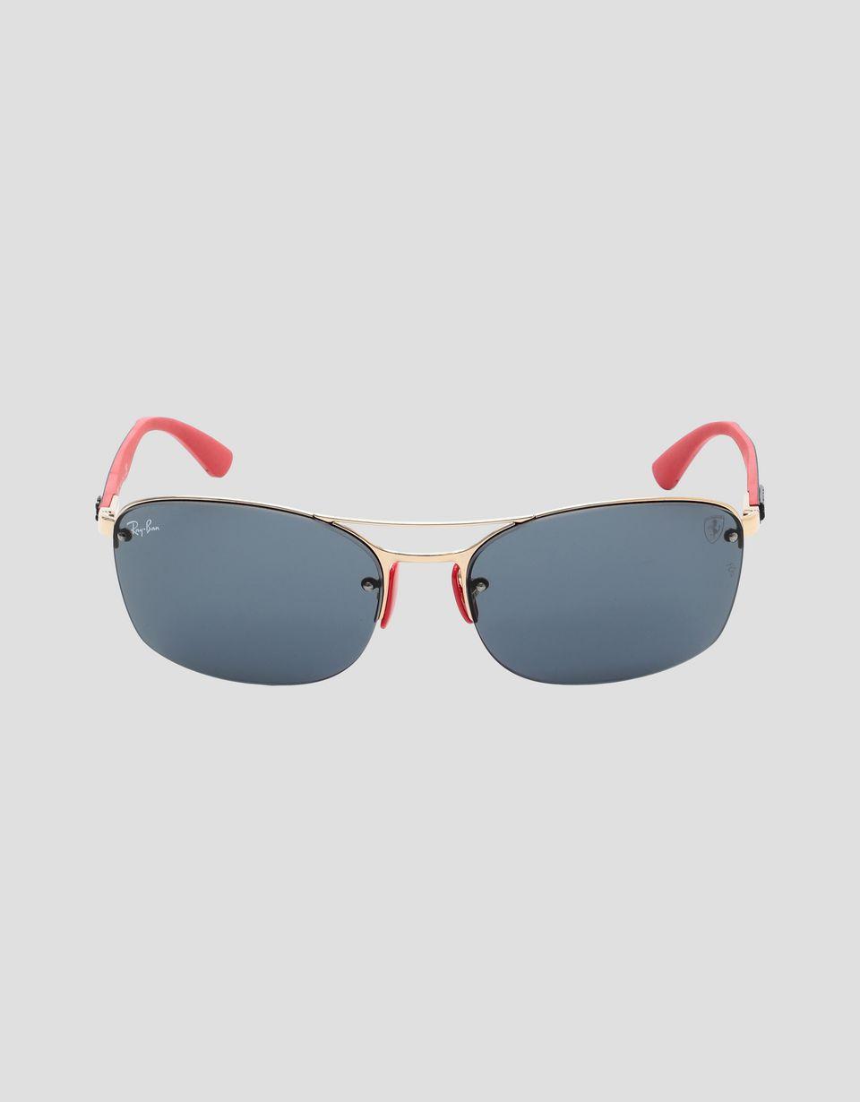Scuderia Ferrari Online Store - Gold Ray-Ban x Scuderia Ferrari 0RB3617M - Sunglasses