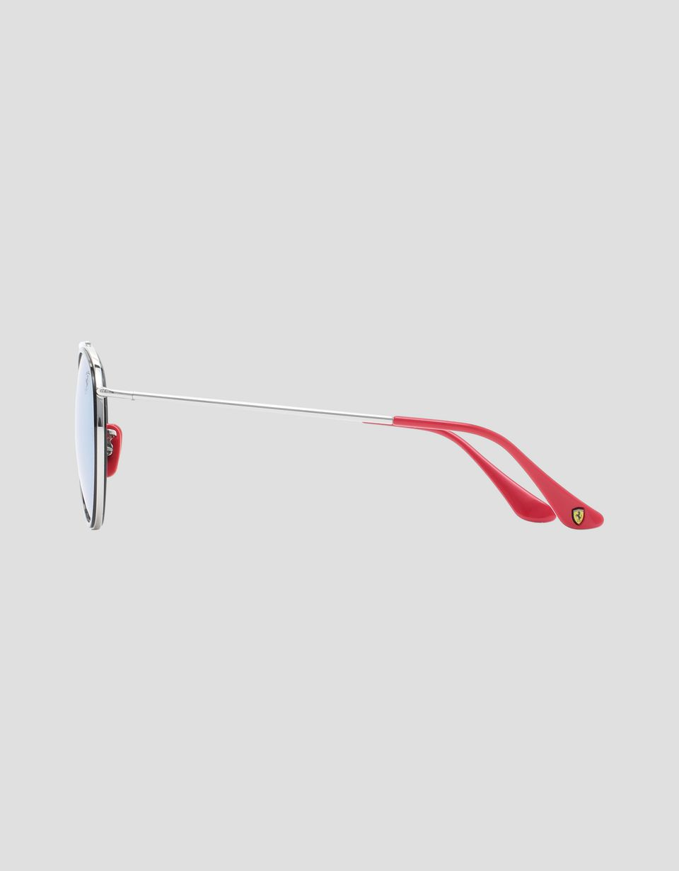 Scuderia Ferrari Online Store - Ray-Ban for Scuderia Ferrari with mirrored lenses 0RB3647M - Sunglasses