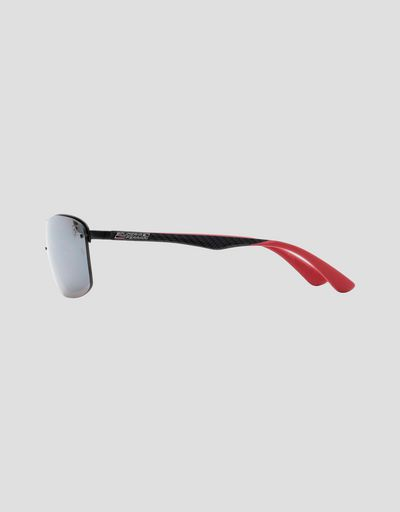 Scuderia Ferrari Online Store - Ray-Ban for Scuderia Ferrari black with polarised lenses 0RB3617M - Sunglasses