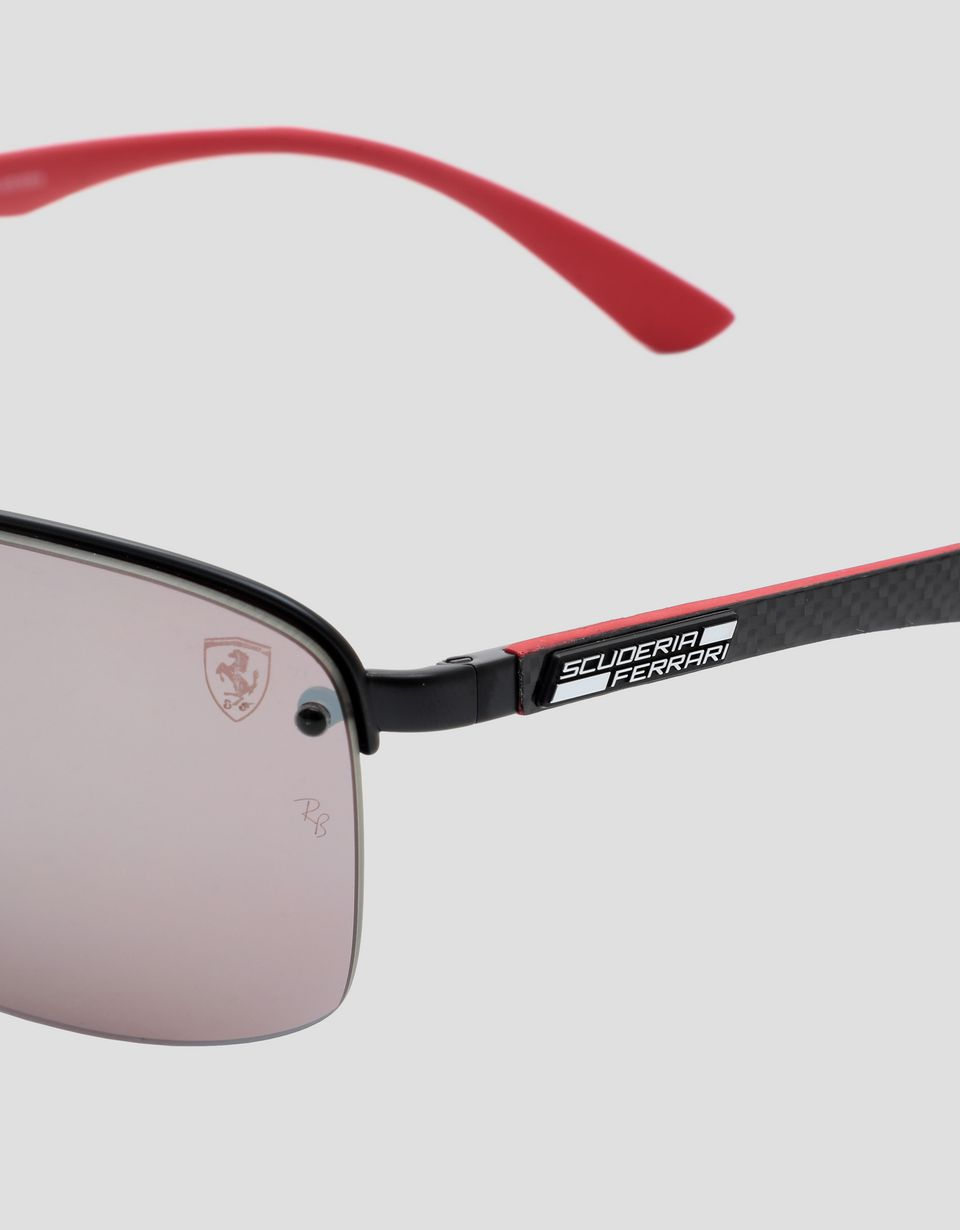 Scuderia Ferrari Online Store - Black Ray-Ban x Scuderia Ferrari glasses with polarized lenses 0RB3617M - Sunglasses