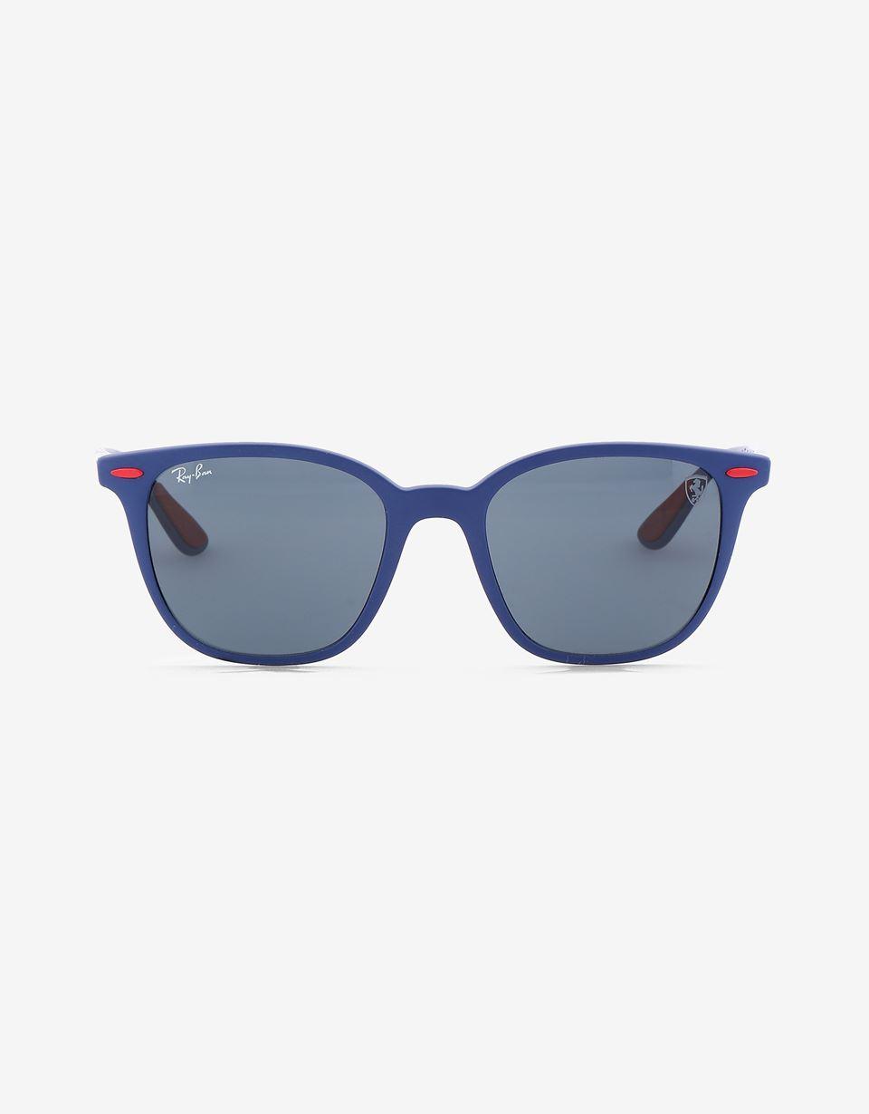 Scuderia Ferrari Online Store - Matte blue Ray-Ban x Scuderia Ferrari 0RB4297M - Sunglasses