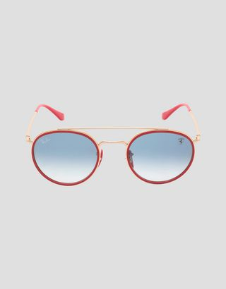 Scuderia Ferrari Online Store - Ray-Ban for Scuderia Ferrari with gradient lenses 0RB3647M - Sunglasses