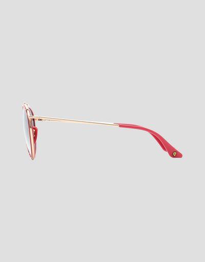 Scuderia Ferrari Online Store - Gold Ray-Ban x Scuderia Ferrari 0RB3647M - Sunglasses