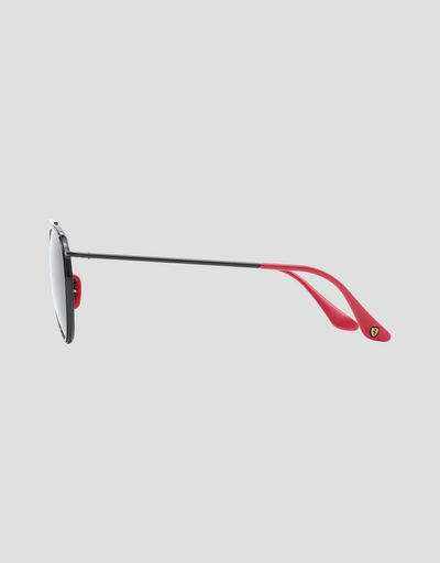 Scuderia Ferrari Online Store - Ray-Ban for Scuderia Ferrari with 0RB3647M mirrored lenses - Sunglasses