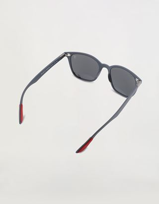 Scuderia Ferrari Online Store - Ray-Ban for Scuderia Ferrari with mirrored lenses 0RB4297M - Sunglasses