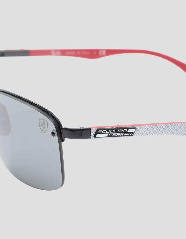 Scuderia Ferrari Online Store - Ray-Ban for Scuderia Ferrari with mirrored lenses 0RB3617M - Sunglasses