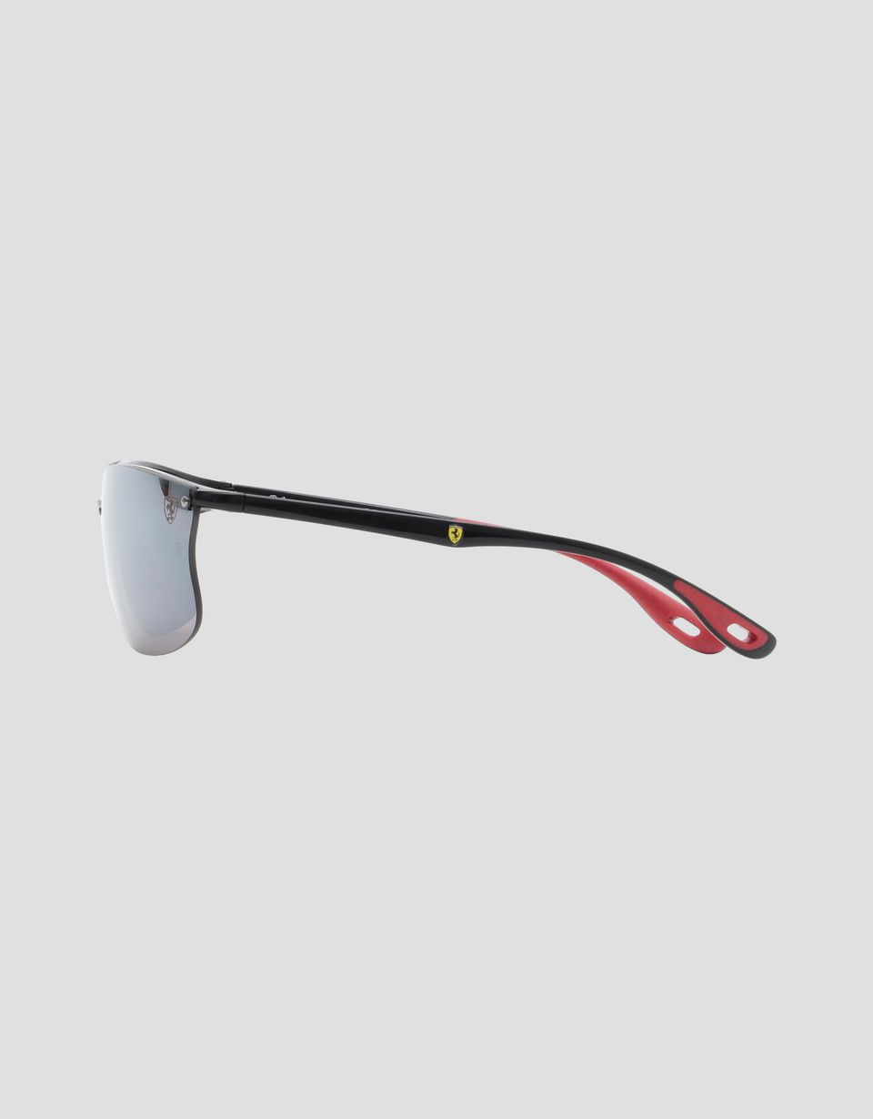 Scuderia Ferrari Online Store - Black Ray-Ban x Scuderia Ferrari glasses with polarized lenses 0RB4322M - Sunglasses