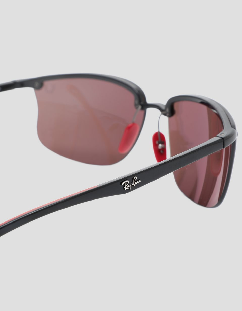 Scuderia Ferrari Online Store - Ray-Ban for Scuderia Ferrari black with polarised lenses 0RB4322M - Sunglasses