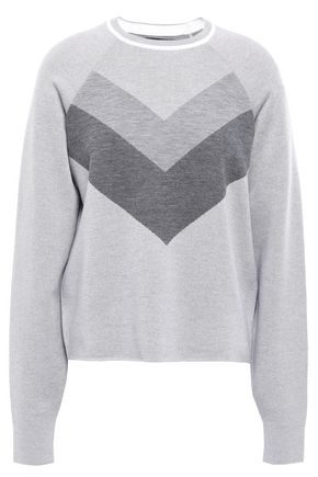 LNDR Color-block intarsia merino wool sweater