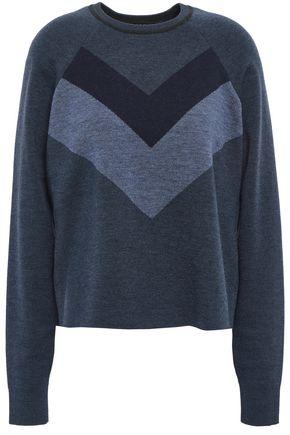 LNDR Color-block merino wool sweater