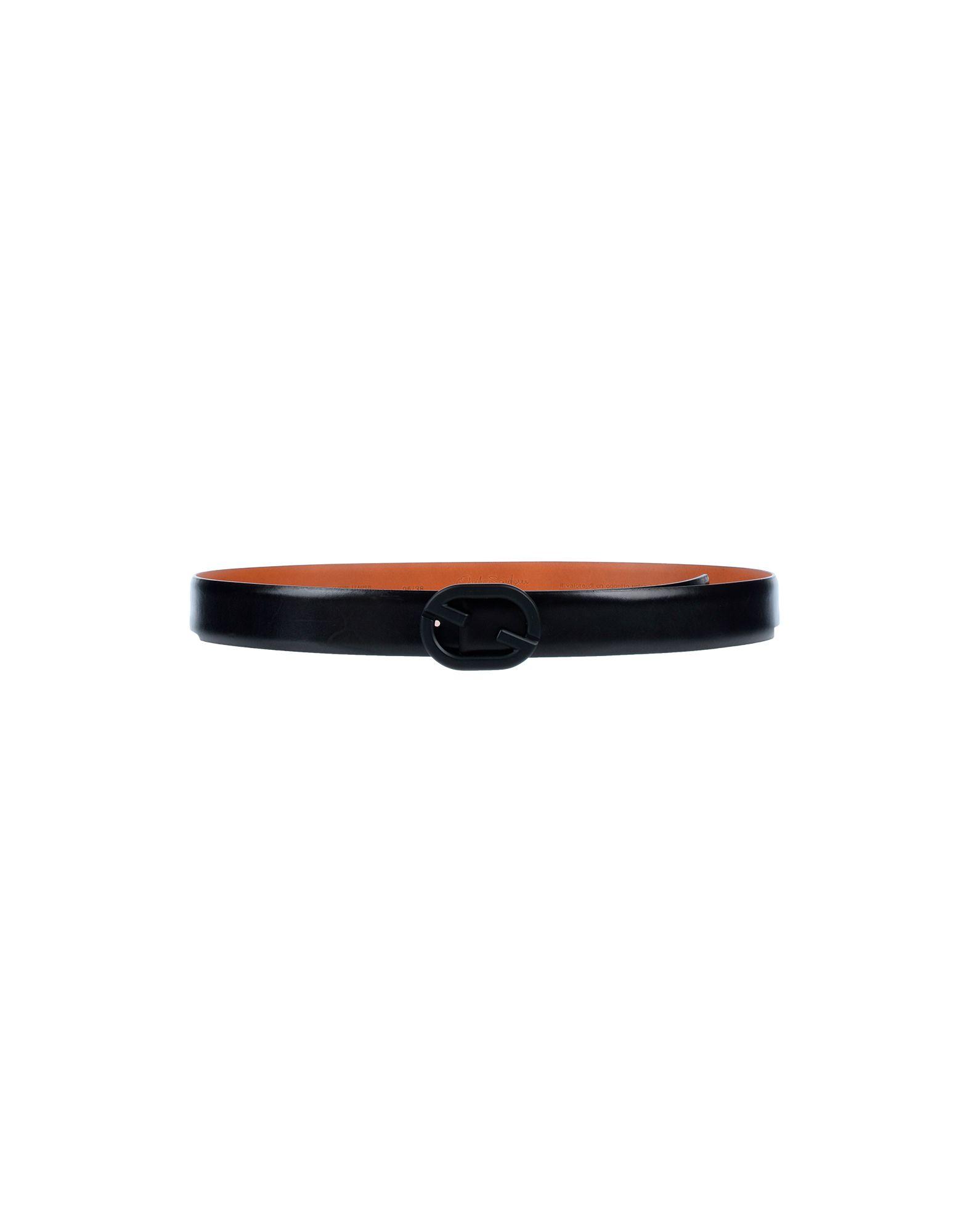 《セール開催中》SANTONI メンズ ベルト ブラック 95 革
