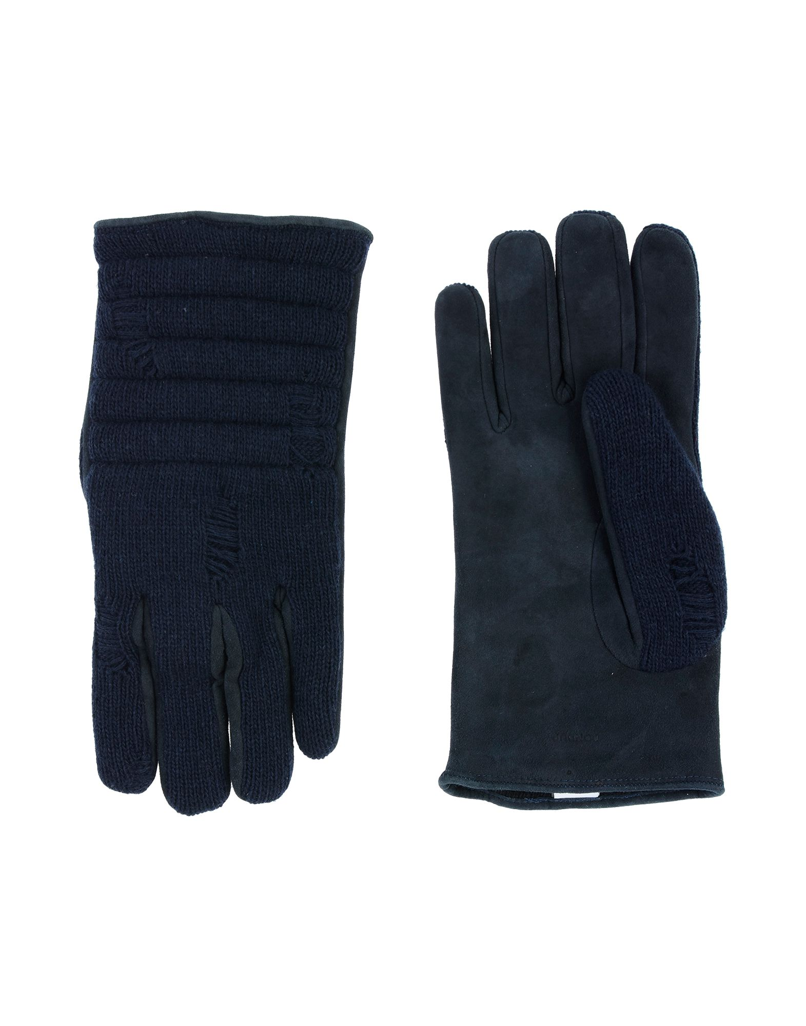 DONDUP Gloves. baize, knitted, no appliqués, suede effect, solid color, lightweight sweater, fully lined, contains non-textile parts of animal origin. 50% Soft Leather, 22% Wool, 13% Polyamide, 13% Viscose, 2% Cashmere