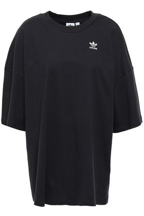 ADIDAS ORIGINALS Embroidered cotton-jersey T-shirt