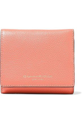 DONNA KARAN Pebbled-leather wallet