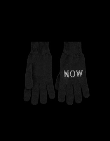 GLOVES Black Scarves & Gloves Woman
