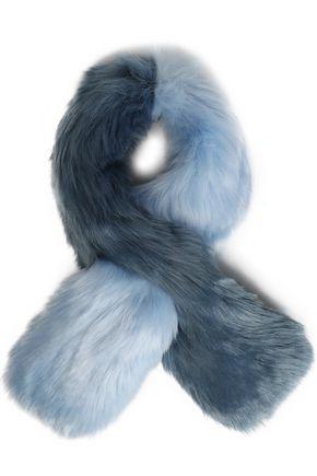 CHARLOTTE SIMONE Two-tone faux fur scarf