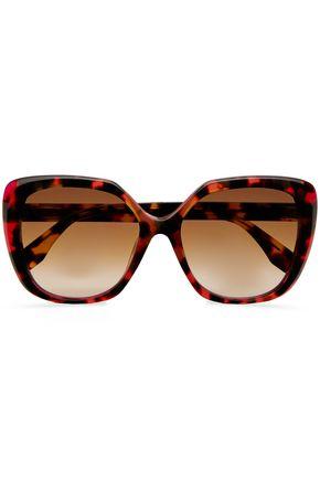 FENDI Square-frame tortoiseshell acetate sunglasses